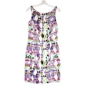 Milly Dresses - MILLY Sleeveless Purple Multi Colored Dress Size 6
